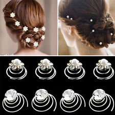 Elegant Hairpins Jewelry 6pcs Twists Rhinestone Hairpins For Wedding Bridal Hot
