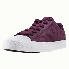 Converse Star Player Ox Mens Burgundy Leather Trainers