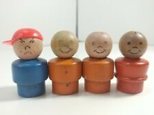 Vintage Fisher Price Little People Boy All Wood YOUR CHOICE