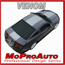 VENOM Wide Center Hood Racing Stripes 3M Vinyl Decals Graphic 2013 Ford Mustang