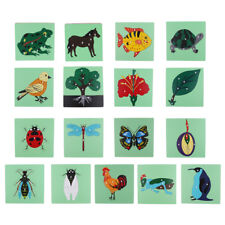 Montessori Wooden Knob Animal Jigsaw Puzzle Panel Toy Kid Baby Educational Gifts