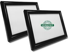 Set of 2 - Small BLACK Picture Frames~Photo Frame Easel Back~4x6~5x7~8x10~Wood