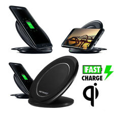 Wireless Charging Pad Qi Fast Charger Stand Dock For Samsung Galaxy S8 iPhone 8