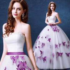 New White Ivory Butterfly Pearl Bow Wedding Dress 4 6 8 10 12 14 16 18 20 K4GH0H