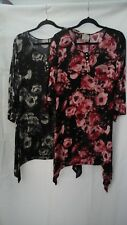 """SOFT B - FLORAL TUNIC BUST: 40""""  BNWT BLUE OR PINK"""
