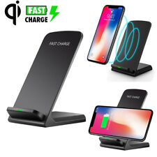 Wireless QI Fast Charger Charging Stand Holder For iPhone X 8 Plus Samsung S8 S9