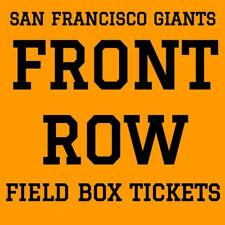 FRONT ROW TICKETS · SAN FRANCISCO GIANTS vs CHICAGO CUBS · AT&T PARK · JULY 11