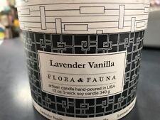HIGHLY SCENTED SOY WAX 3 WICK CANDLE 65 HOURS VANILLA PADDYWAX FLORA & FAUNA