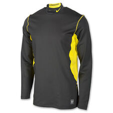 Nike Pro Combat Hyperwarm Long Sleeve Fitted Dri-FIT Top Anthracite Men's XL