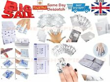 100 x Nail Art Soak Off Remover Polish Acrylic Removal Foil Wraps