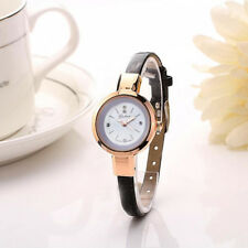 Fashion Women Lady Quartz Analog Wrist Watch Leather Stainless Bracelet Watches