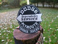 DODGE SERVICE Plymouth  sign round Blue  Trucks cloth patch