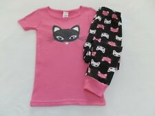 NEW! Gymboree Tod Girls Kitty Cat Summer Pajamas Gymmies size 2T or 3 Pink Black