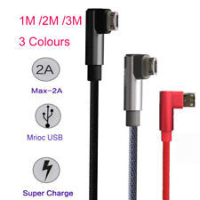 1M/2M/3M 2.4A Micro USB Fast Charger Charging Data Sync Cable For Samsung LG Lot