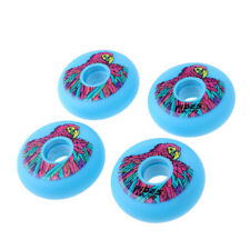 4-pack 72mm Durable Outdoor Roller Inline Skate PU Wheels Yellow/Blue/Pink