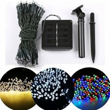 Outdoor Solar Powered 100-200 LED String Light Garden Patio Yard Party Lamp