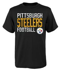 Pittsburgh Steelers NFL Youth Boys Black Short Sleeve Team T-Shirts: S-XL