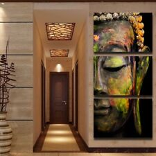 Modern Canvas Printed Poster Frame Home Wall Art Buddha Statue Pictures 3 Piece