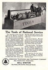 1925 American Telephone: Tools of National Service Vintage Print Ad