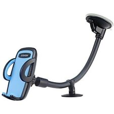 Car Windshield Dashboard Cellphone Mount Long Arm 360 Degrees Rotation Blue