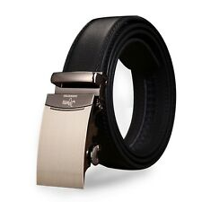 Automatic Buckle Luxury Bracelet Black Designer Mens Belt Genuine Leather Wear