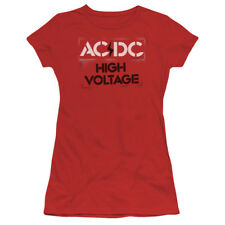 "AC/DC ""High Voltage Stencil"" Women's Adult & Junior Tee"