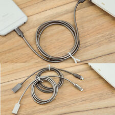 USB Cable Fast Charging Data Sync Cable For Samsung Android iphone(Zinc alloy)US