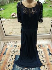 SIMPLY BE sz 30 Gorgeous navy top jersey maxi gown/dress BNWT