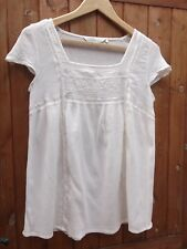 FAT FACE IVORY CHEESECLOTH TOP SIZE 14