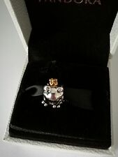 s925 ale  frog prince with gold crown charm &  pandora pouch
