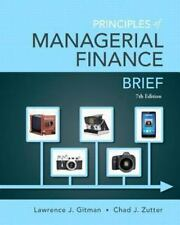 Principles of Managerial Finance, Brief 7th Edition, Gitman & Zutter *Like New*