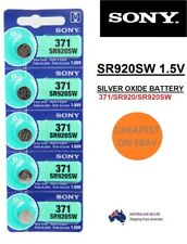 Genuine Sony 371 Sr920sw Silver Oxide Watch Battery 1.55v Cell Made in japan