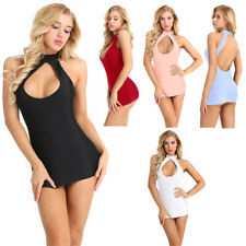 Womens Sexy Slim Halter Bodycon Evening Party Cocktail Casual Short Mini Dress