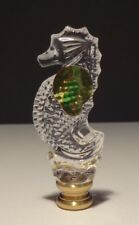 ONE WATERFORD CRYSTAL SEAHORSE LAMP FINIAL