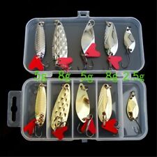 10/20Pcs Mixed Colorful Trout Spoon Spinner Tackle Metal Fishing Lures Baits NEW
