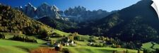 Wall Decal entitled Buildings on a landscape, Dolomites, Funes Valley, Le Odle,