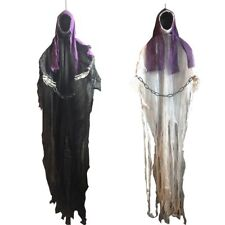 Hanging Black Face Ghost Haunted House Escape Horror Halloween Decorations Props