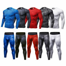Men Compression Tights Cycling Sports Gym Outfits Dri fit Athletic Workout shirt