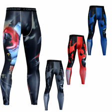 Mens Cycling Fitness Gym Tights Training Workout Compression Dry-fit Long Pants