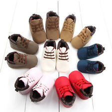 Newborn Baby Boys Girls Soft Sole Crib Shoes Warm Boots Anti-slip Sneakers Hot