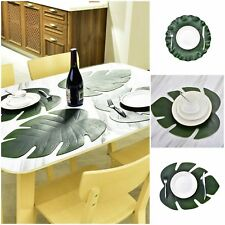 Table Dining Pad Mat Kitchen Placemats Bowl Leaves Waterproof Table Decor Cloth