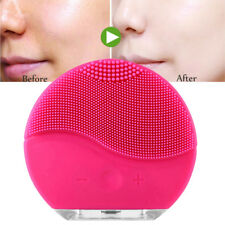 Electric Facial Cleansing Brush Silicone Sonic Vibration Mini Cleaner Deep Pore