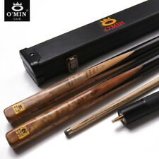 O'MIN One Piece Snooker Cue Kit with Case with Extension 3/4 Piece Snooker Cue