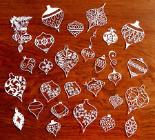 ❄️ Christmas Ornament CARD TOPPERS Tattered Lace Memory Box Sizzix die cut out r