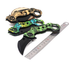 New 5 Colors karambit Folding Knife Fixed Blade Outdoor Camping Survival Knives