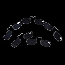 Clear Mini Nose Resting Pocket Reading Glasses Clip Strength 1.0 1.5 2.0 2.5 3.0