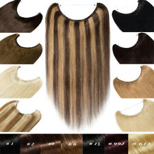 Secret Wire Headband Crown Thick Remy Human Hair Extensions One Piece Mix Colors