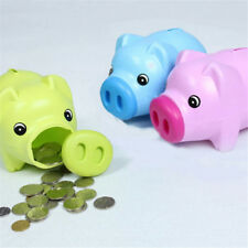 Gift Kawaii Cartoon Pig Plastic Piggy Bank Money Saving Box Coin Storage Case