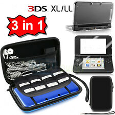 Lot Carrying Bag+Clear Case Cover+Screen Protector for New Nintendo 3DS XL LL