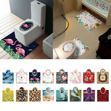 Set Waterproof Toilet Seat Lid Stciker Closestool Cover Decal for DIY Decor